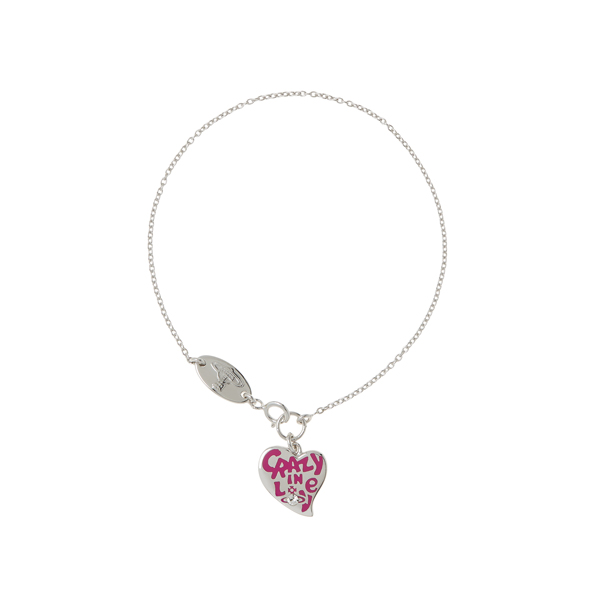 Women Vivienne Westwood STERLING SILVER CRAZY IN LOVE BRACELET Outlet Online