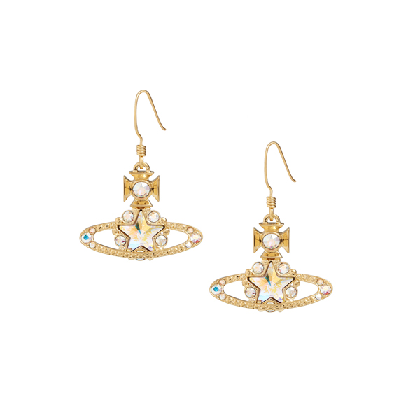 Women Vivienne Westwood ASTRID DROP EARRINGS GOLD Outlet Online