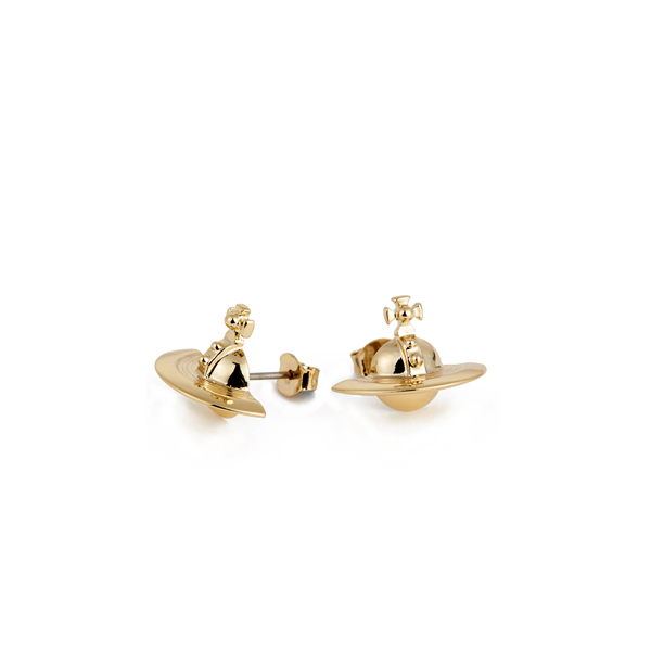 Women Vivienne Westwood SOLID ORB EARRINGS GOLD Outlet Online