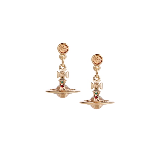 Women Vivienne Westwood NEW PETITE ORB EARRINGS GOLD Outlet Online