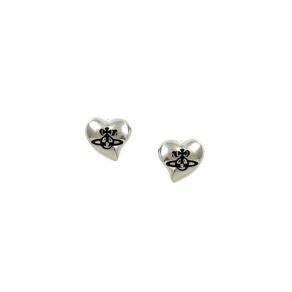 Women Vivienne Westwood NEW HEART STUD EARRINGS Outlet Online