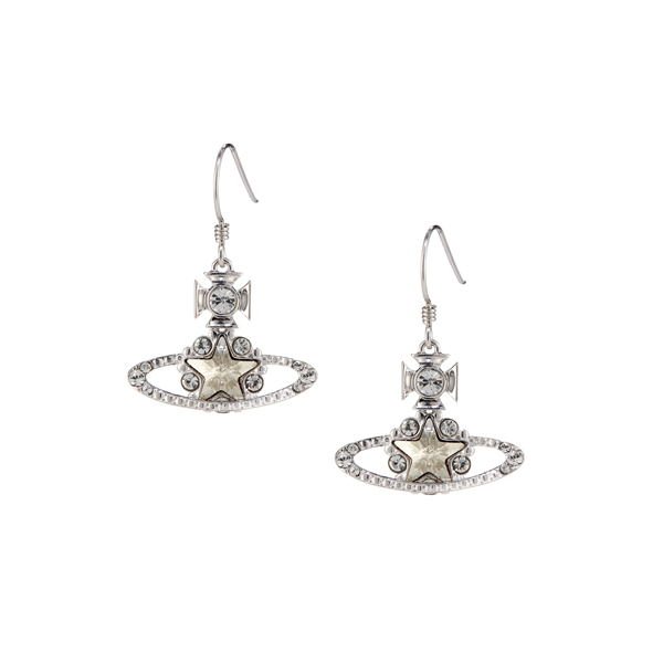 Women Vivienne Westwood ASTRID DROP EARRINGS SILVER Outlet Online