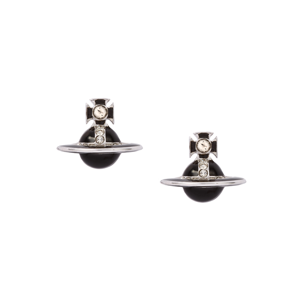Women Vivienne Westwood BLACK IONA STUD EARRINGS Outlet Online
