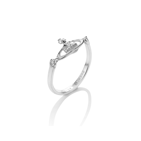Women Vivienne Westwood VENDOME RING SILVER Outlet Online