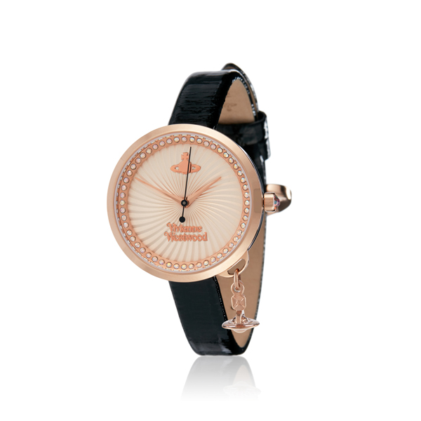 Women Vivienne Westwood BOW WATCH ROSE/BLACK Outlet Online