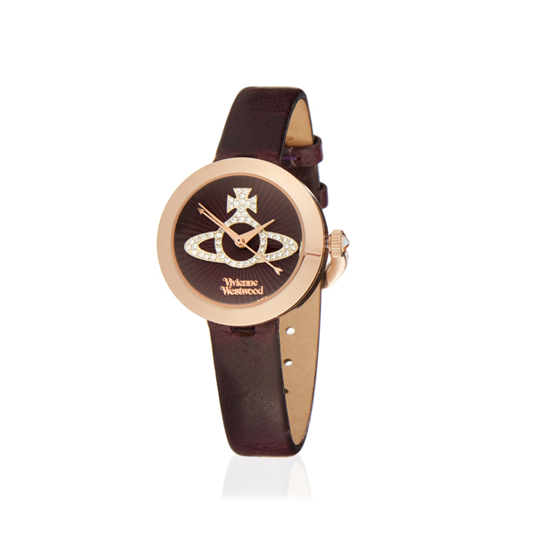 Women Vivienne Westwood PURPLE/GOLD QUEENSGATE WATCH Outlet Online