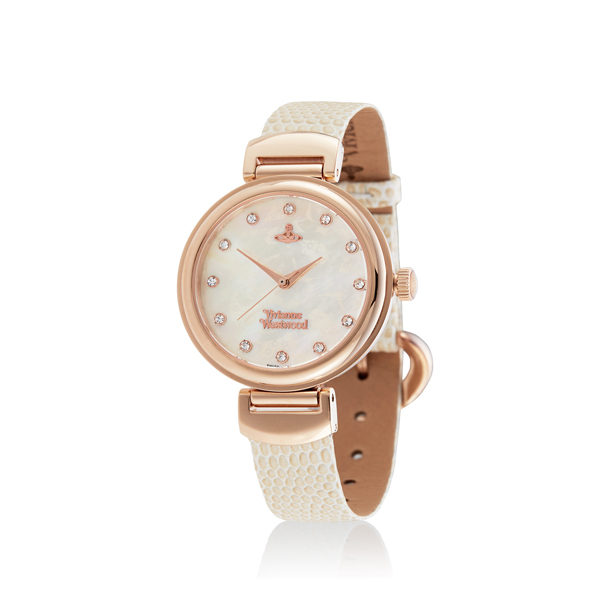 Women Vivienne Westwood HAMPTON WATCH ROSE/WHITE Outlet Online