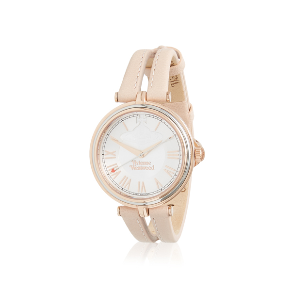 Women Vivienne Westwood FARRINGDON WATCH LIGHT PINK/ROSE GOLD Outlet Online